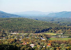 New Castle, Virginia - A view over New Castle to the mountains