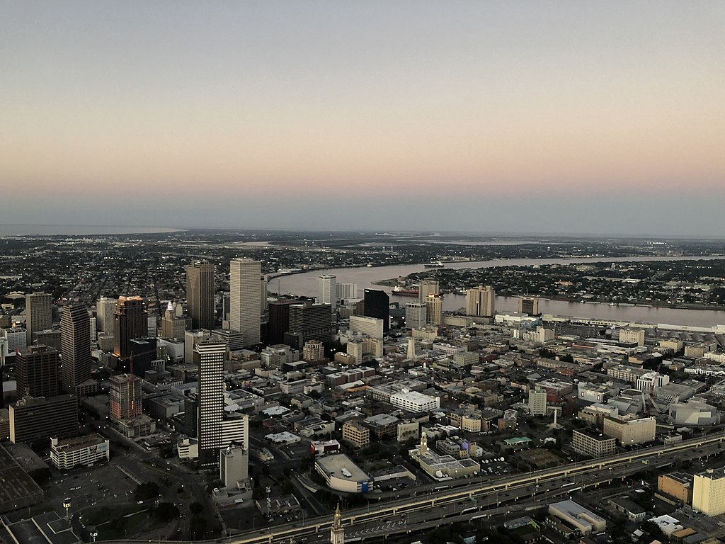 New Orleans from the Air September 2019 - Central Business District Skyline