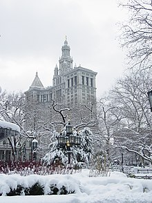 New York City Hall Park winter.jpg