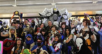 Overwatch (video game) - Cosplay of various Overwatch characters at New York Comic Con 2016