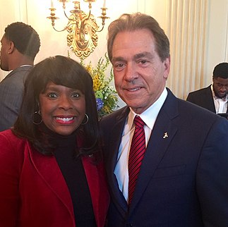 Nick Saban and Terri Sewell