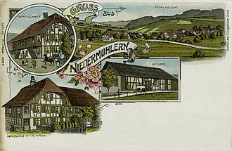 Niedermuhlern - Postcard of Niedermuhlern, about 1900