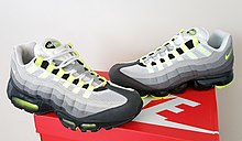 watch 7b79e e2312 Air Max 95 (1995) next to the Vapormax 95 Hybrid (2018) in the original