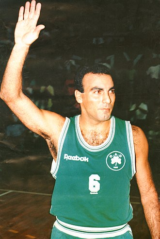 Nikos Galis - Galis with Panathinaikos, during the 1992–93 season.