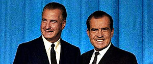 Nominees Agnew (left) and Nixon (right)