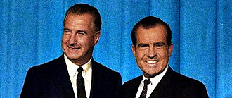 Richard Nixon 1968 presidential campaign - Nixon (right) with VP nominee Spiro Agnew