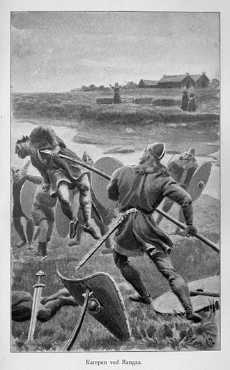 Njáls saga - Gunnarr fights the ambushers, killing fourteen men