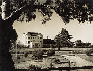Government House, Canberra - Government House as viewed from the front in 1927.