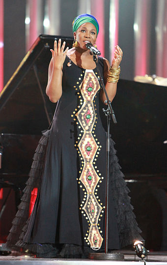 Three-time nominee and 2003 award winner India.Arie Nobel Peace Prize Concert 2010 - India.Arie 3.jpg