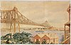Selfe's 1903 winning design for a Sydney Harbour Bridge