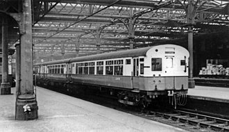 Tyneside Electrics - A 1937 LNER unit at Newcastle Central in 1950.