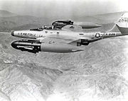 Northrop F-89H with AIM-4 Falcon missiles