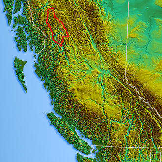 Skeena Mountains - Image: Northwest relief Skeenas