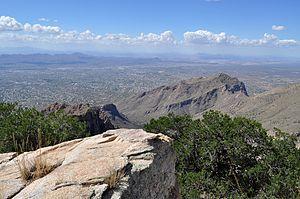 Northwest Metro Tucson from the Santa Catalina Mountains