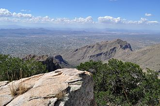 Northwestern suburbs viewed from the Santa Catalina Mountains Northwest Metro Tucson from the Santa Catalina Mountains.jpg