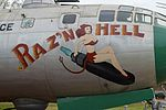 "Nose art on B-29A Superfortress ""Raz'n Hell"" (461535) (29276981084).jpg"