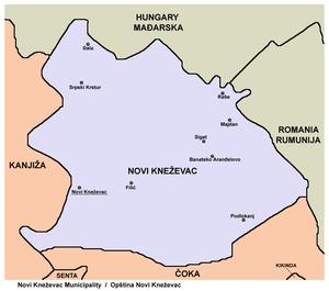 knezevac beograd mapa Opština Novi Kneževac   Wikipedia knezevac beograd mapa