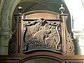 Noyon (60), cathédrale Notre-Dame, chœur, 1ère travée, clôture côté sud, panneau sculpté.jpg