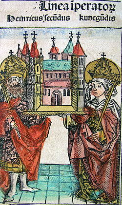 Nuremberg chronicles - Henry II and Cunegundis (CLXXXVIr).jpg