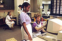Nurses in a nurses' station, USA 1987