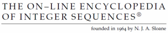 On-Line Encyclopedia of Integer Sequences - Image: OEIS banner