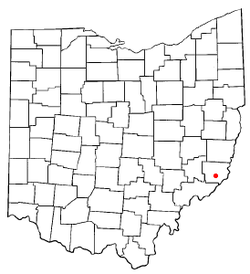 Location of Antioch, Ohio