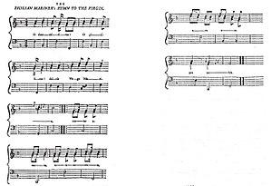 O Sanctissima - Earliest known printing: European Magazine, November 1792