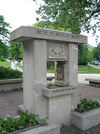Horse Show Fountain - The replica Horse Show Fountain in Oak Park, Illinois