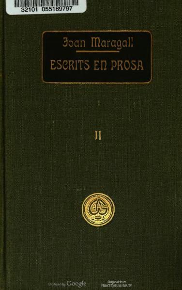 File:Obres completes d'En Joan Maragall - Escrits en prosa II (1912).djvu