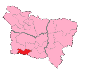 Oise's 3rd constituency - Oise's 3rd Constituency shown within Picardie.