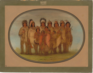Ojibbeway Indians in Paris