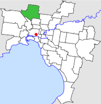 City of Broadmeadows - Location in Melbourne