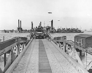 Allied advance from Paris to the Rhine - Mulberry 'A' off Omaha Beach was critical in the early days for Allied supplies.