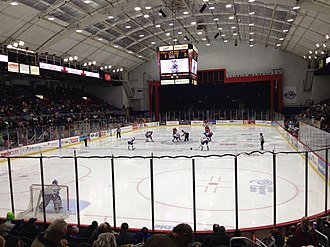 Oncenter War Memorial Arena - Interior during a hockey game