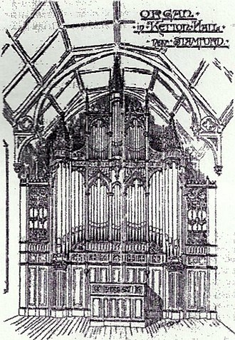 Parr Hall - The organ in Ketton Hall near Stamford; The Musical Standard, 1 April 1893.