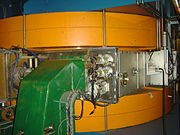 A magnet in the synchrocyclotron at the Orsay proton therapy center