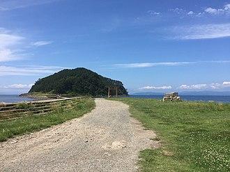 Hiranai, Aomori - Ōshima Island, part of Asamushi-Natsudomari Prefectural Natural Park, from Natsudomari Peninsula.