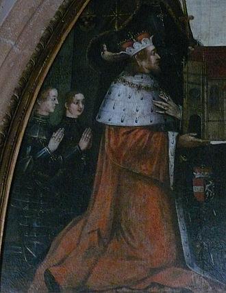 Otto, Duke of Austria - Duke Otto and his two sons, Neuberg Abbey