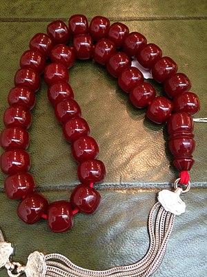Faturan - An Ottoman Marbled Faturan Prayer Bead