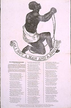 Broadside publication of Whittier's Our Countrymen in Chains