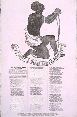 John Greenleaf Whittier - Broadside publication of Whittier's Our Countrymen in Chains