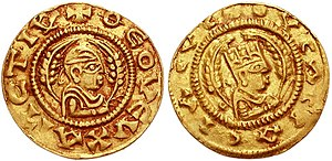 History of Ethiopia - Gold coin of the Aksumite King Ousas