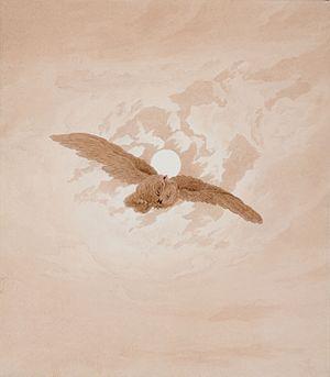 Sepia drawing by Caspar David Friedrich