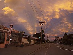 Oxford, New Zealand - Looking east