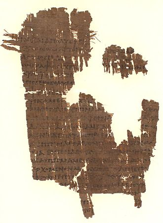 Acts 18 - Image: P038 Act 18.27 19.6 III IV
