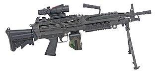 Light machine gun machine gun designed to be employed by an individual soldier
