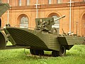 PKP trailer attached to the amphibian carrier PTS-2 in Military-historical Museum of Artillery, Engineer and Signal Corps in Saint-Petersburg, Russia.jpg