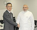 PM Modi during a visit to the stem cell research centre at Kyoto University.jpg