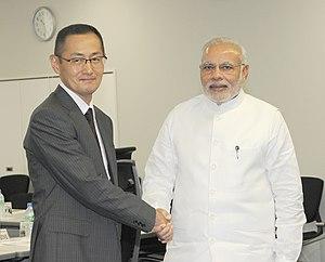 Shinya Yamanaka - Prime Minister of India Narendra Modi visit Sinya Yamanaka in CiRA, Kyoto University.