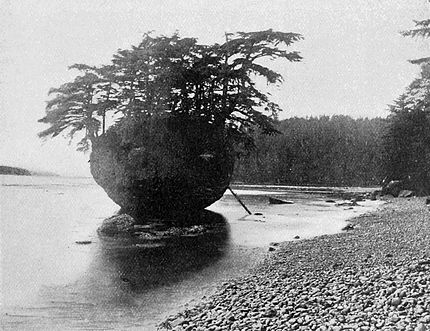 PSM V53 D183 Egg shaped rock containing the burial house of a haida shaman.jpg